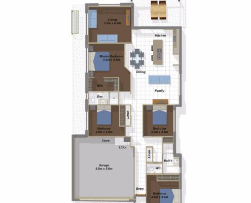 Bangalow SK Floorplan